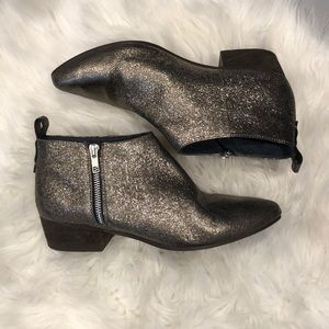 Seychelles Leather bronze metallic bootie